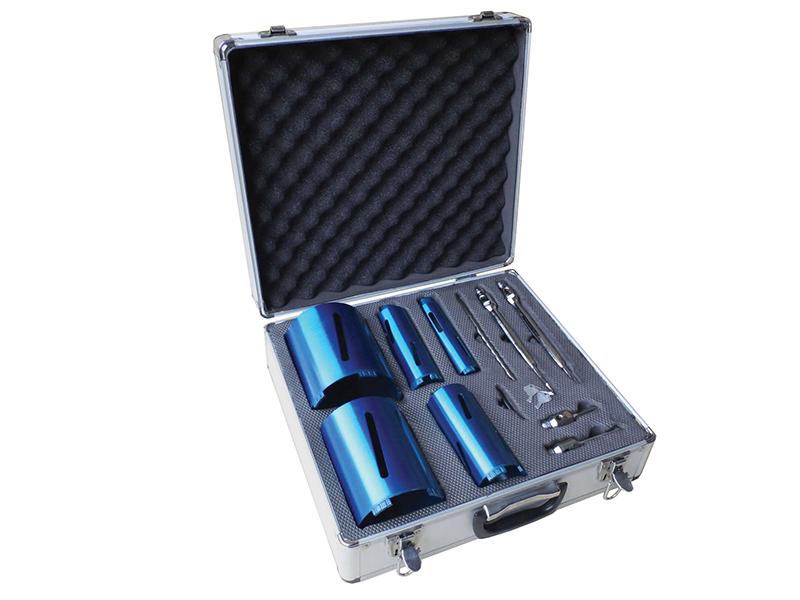 Thumbnail image of Faithfull Diamond Core Drill Kit & Case Set of 11