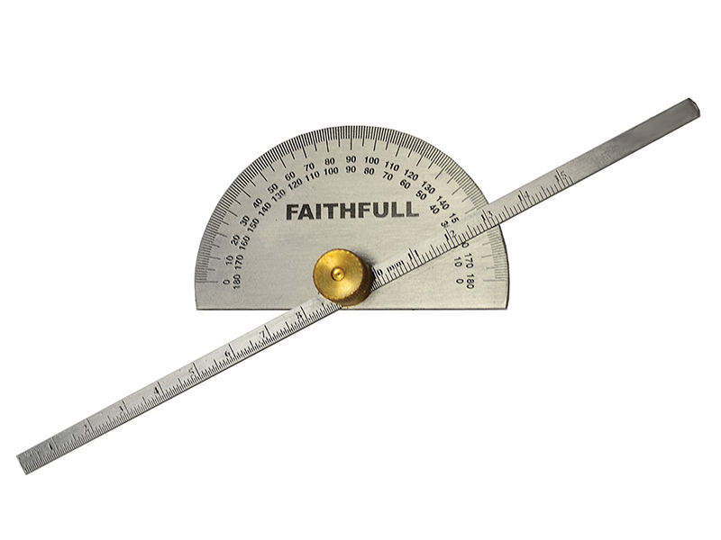 Thumbnail image of Faithfull Depth Gauge with Protractor 150mm (6in)