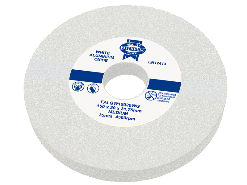 Thumbnail image of Faithfull General Purpose Grinding Wheel 150 x 20mm White Medium