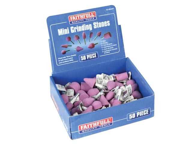 Thumbnail image of Faithfull Mini Grinding Wheel Assortment, 50 Piece