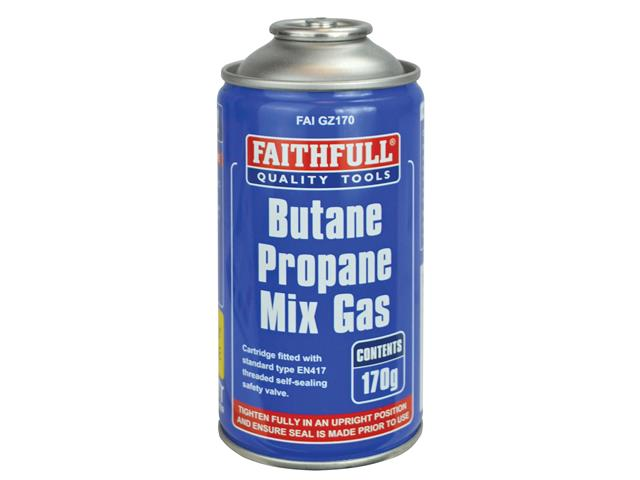 Thumbnail image of Faithfull Butane Propane Mix Gas Cartridge 170g