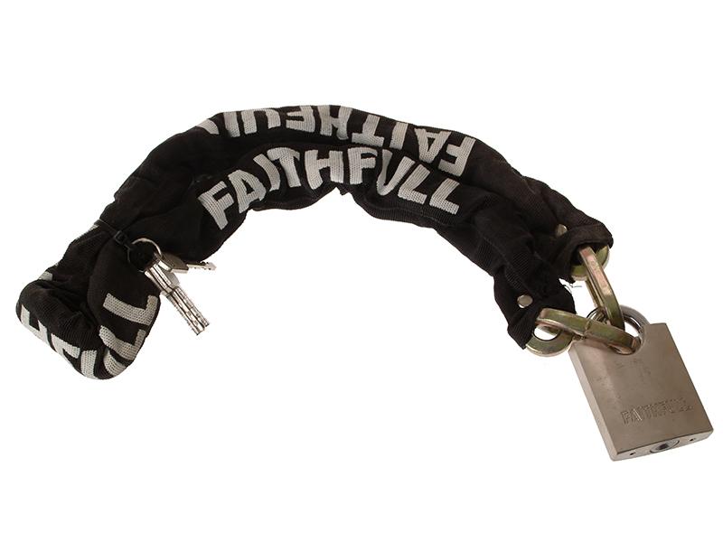 Thumbnail image of Faithfull Padlock & Chain 1m x 9.5mm