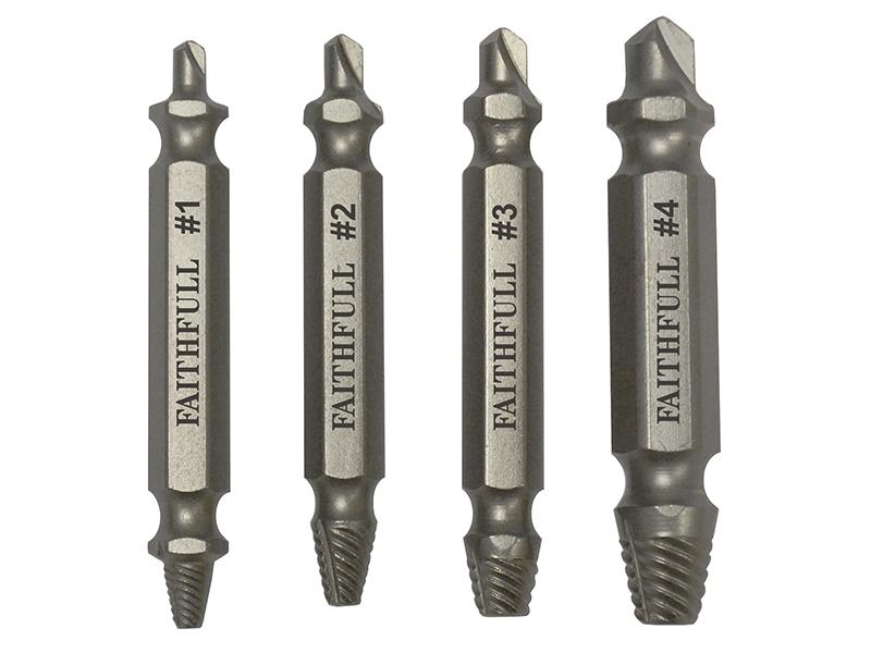 Thumbnail image of Faithfull Screw Extractor Set  4 Piece