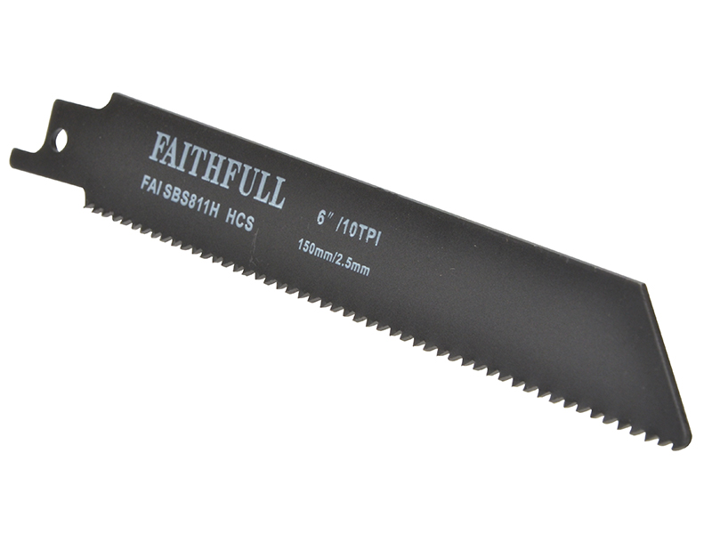 Thumbnail image of Faithfull S811H Sabre Saw Blade Wood 150mm 10 TPI (Pack of 5)