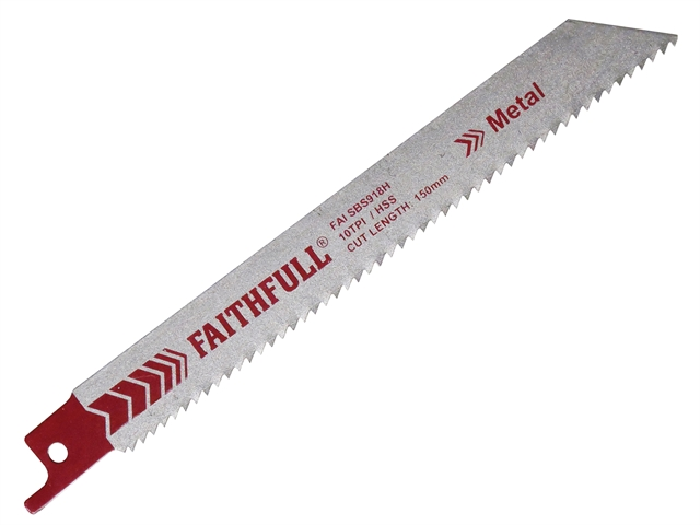 Thumbnail image of Faithfull S918H Sabre Saw Blade Metal 150mm 10 TPI (Pack of 5)