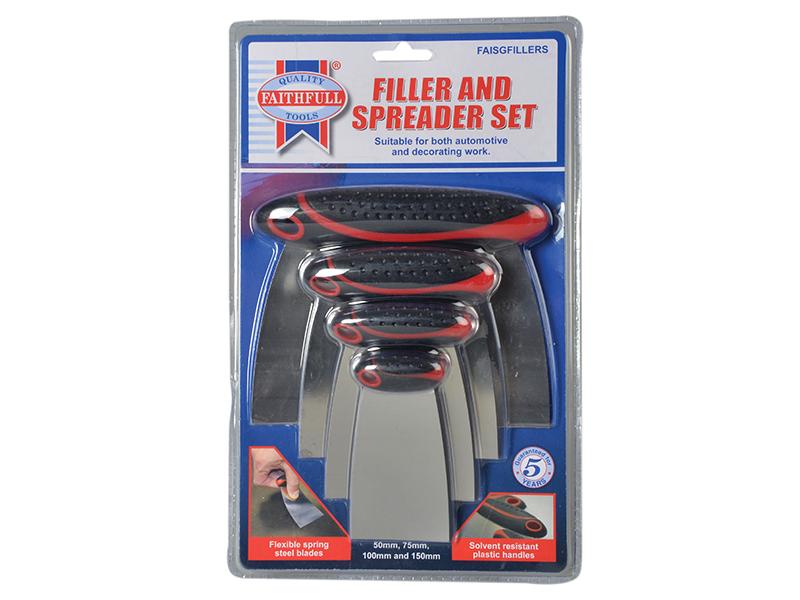 Thumbnail image of Faithfull Stainless Steel Filler & Spreader Set, 4 Piece