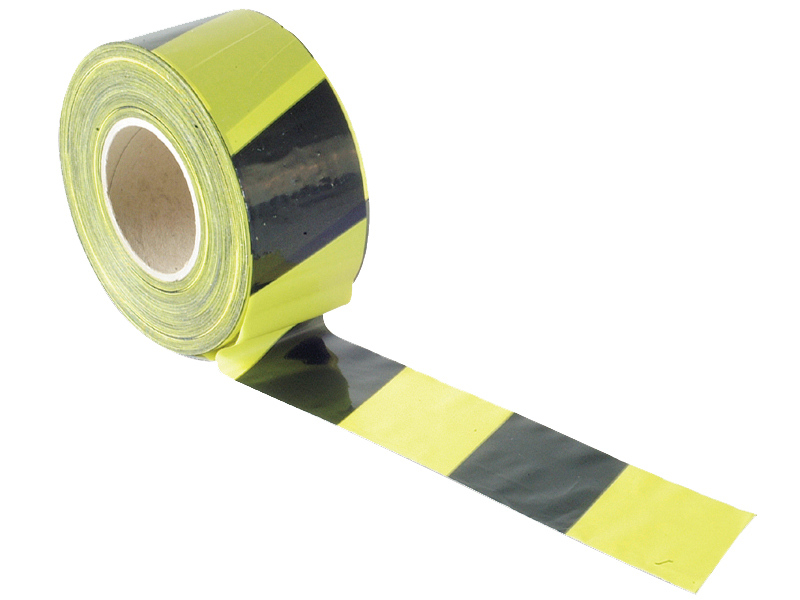 Thumbnail image of Faithfull Barrier Tape 70mm x 500m Black & Yellow