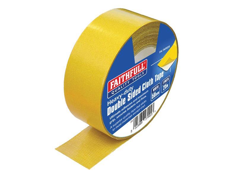 Thumbnail image of Faithfull Heavy-Duty Double-Sided Tape 50mm x 25m