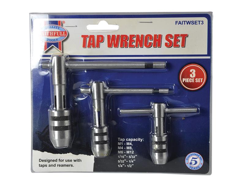 Thumbnail image of Faithfull Tap Wrench Set of 3
