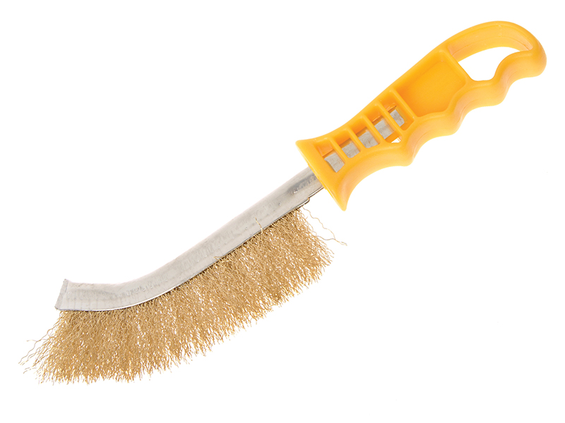 Thumbnail image of Faithfull Wire Scratch Brush Brass Yellow Handle