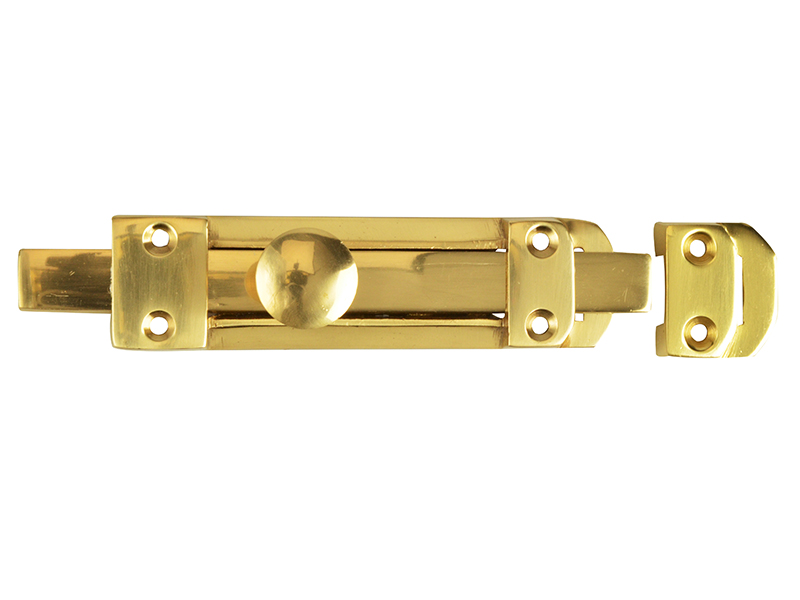 Thumbnail image of Forge Heavy-Duty Door Bolt - Brass 150mm (6in)
