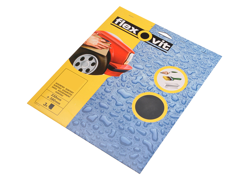 Thumbnail image of Flexovit Waterproof Sanding Sheets 230 x 280mm Coarse 180G (3)