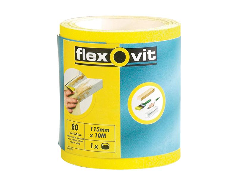 Thumbnail image of Flexovit High Performance Sanding Roll 115mm x 50m Medium 80G