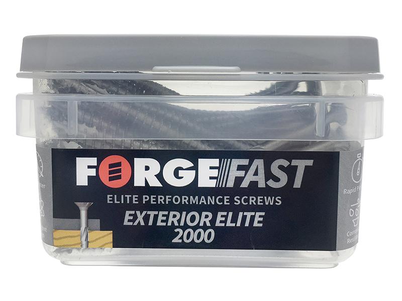 Thumbnail image of ForgeFix ForgeFast Exterior Elite 2000 Pozi Compatible Wood Screw 4 x 70mm Box 170