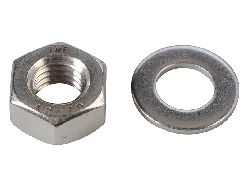 Thumbnail image of ForgeFix Hexagonal Nuts & Washers ZP M10 ForgePack 10