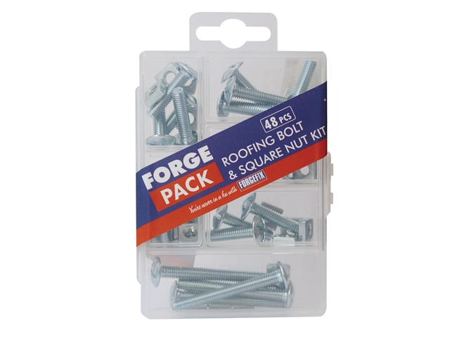 Thumbnail image of ForgeFix Roofing Bolt Kit ForgePack 48 Piece