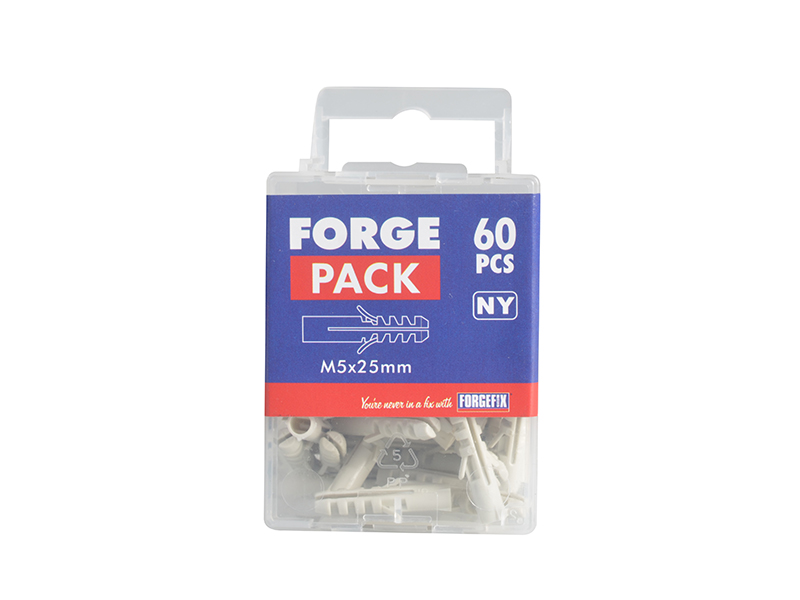 Thumbnail image of ForgeFix Nylon Expansion Wall Plug Rimless M5 x 25mm Forge Pack 60