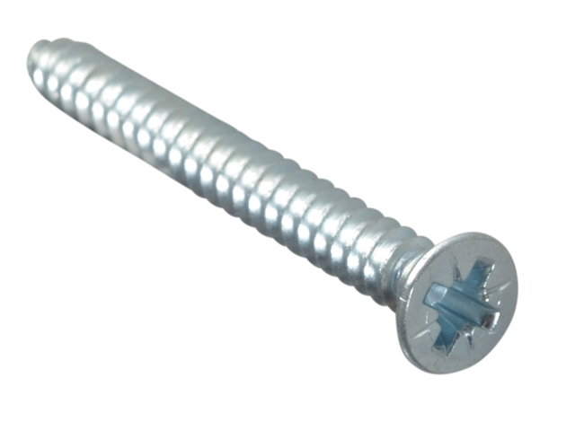 Thumbnail image of ForgeFix Self-Tapping Screw Pozi Compatible CSK ZP 1.1/4in x 8 ForgePack 15