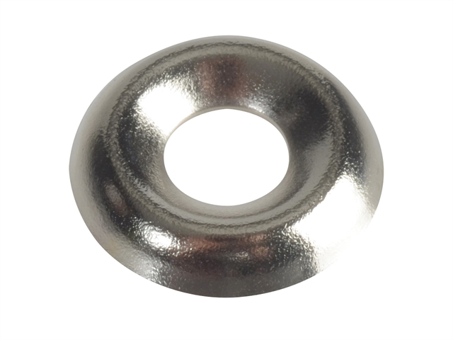 Thumbnail image of ForgeFix Screw Cup Washers Nickle Plated No.8 Forge Pack 20