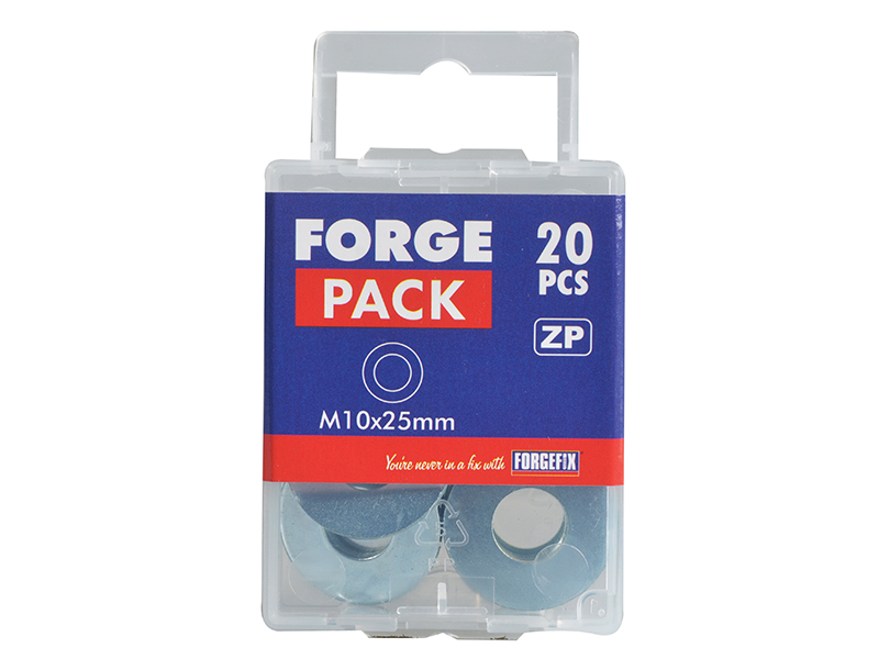 Thumbnail image of ForgeFix Flat Penny Washer ZP M10 x 25mm ForgePack 20