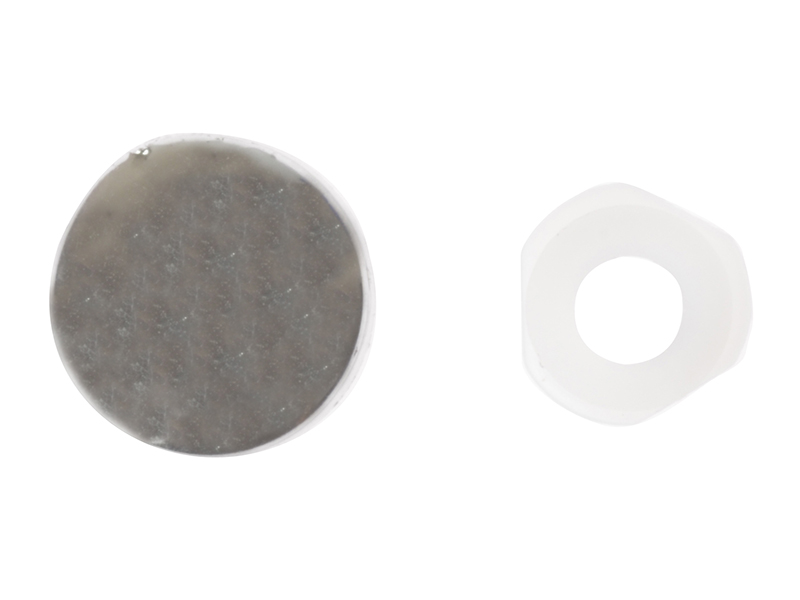Thumbnail image of ForgeFix Domed Cover Cap Chrome Coloured No. 6-8 Bag 25
