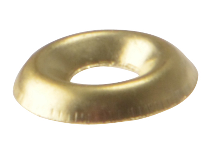 Thumbnail image of ForgeFix Screw Cup Washers Solid Brass Polished No.10 Bag 200