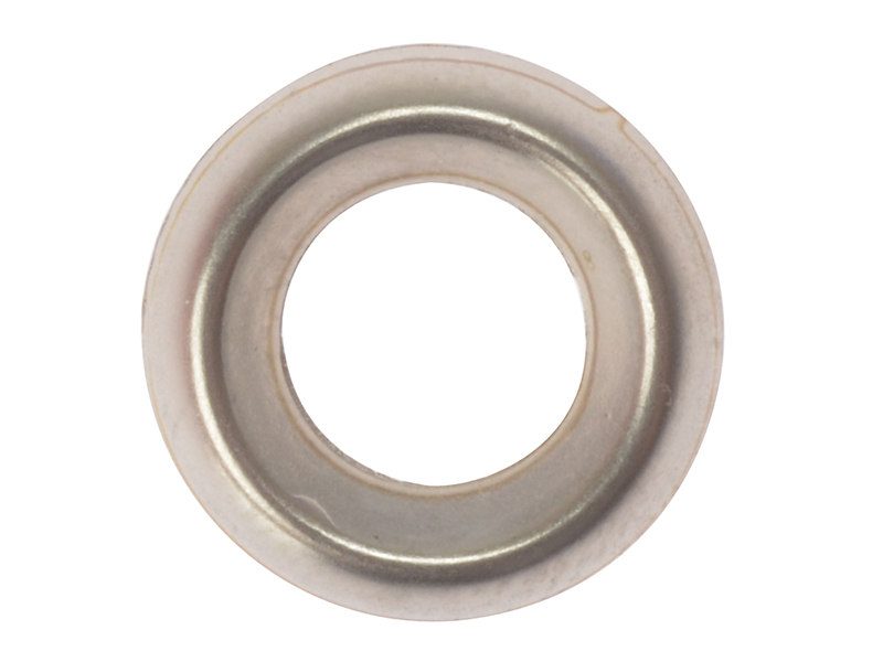 Thumbnail image of ForgeFix Screw Cup Washers Solid Brass Nickel Plated No.10 Bag 200
