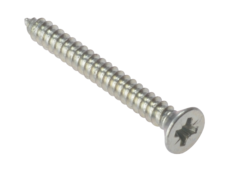 Thumbnail image of ForgeFix Self-Tapping Screw Pozi Compatible CSK ZP 1.1/4in x 8 Box 200