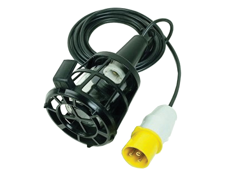 Thumbnail image of Faithfull Plastic Inspection Lamp (Bulb Not Included) & 3m Cable 240V