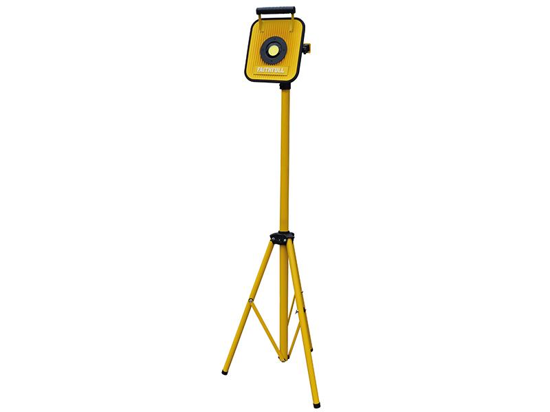 Thumbnail image of Faithfull COB LED Single Pod Tripod Sitelight 30W 2100 Lumens 240V