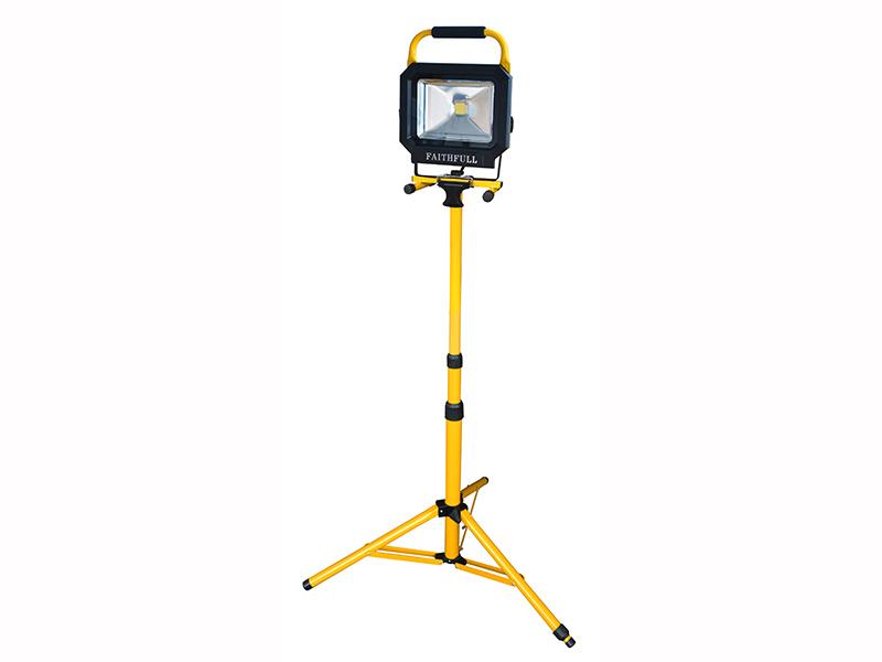 Thumbnail image of Faithfull COB LED Single Pod Tripod Sitelight 30W 2100 Lumens 110V