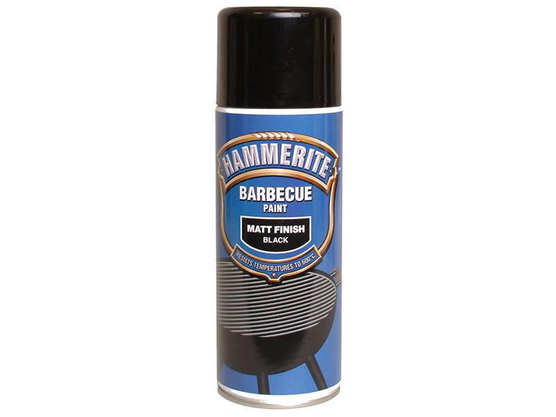 Thumbnail image of Hammerite BBQ Paint Aerosol Black Matt 400ml