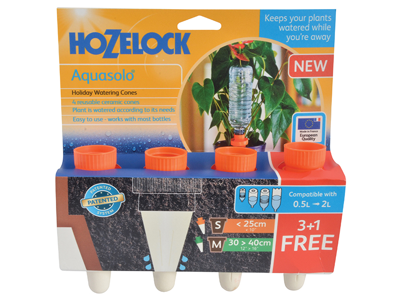 Thumbnail image of Hozelock 2715 Orange Aquasolo Watering Cone for Small 10in Pots (Pack 4)