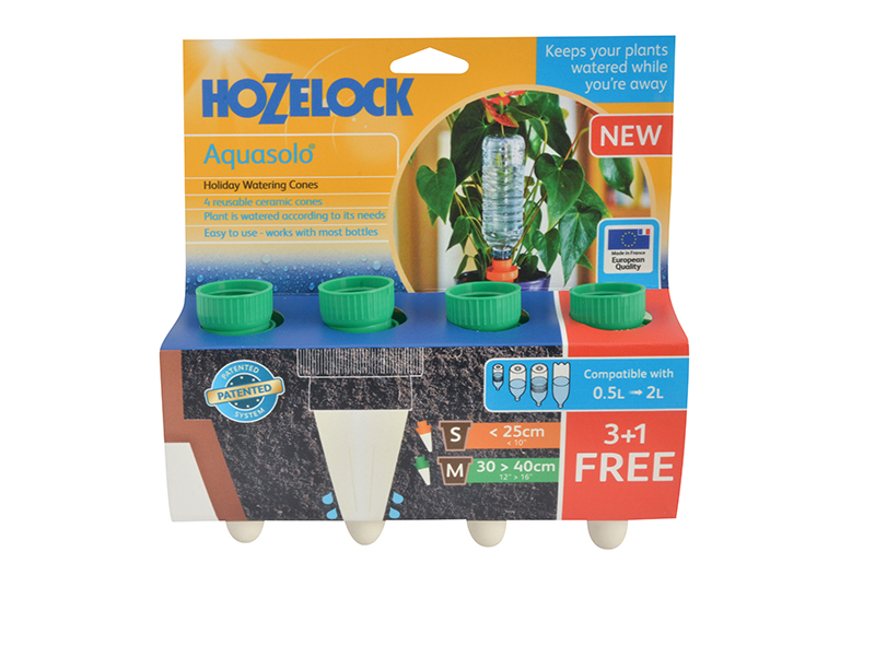 Thumbnail image of Hozelock 2717 Green Aquasolo Watering Cone for Medium 16in Pots (Pack 4)