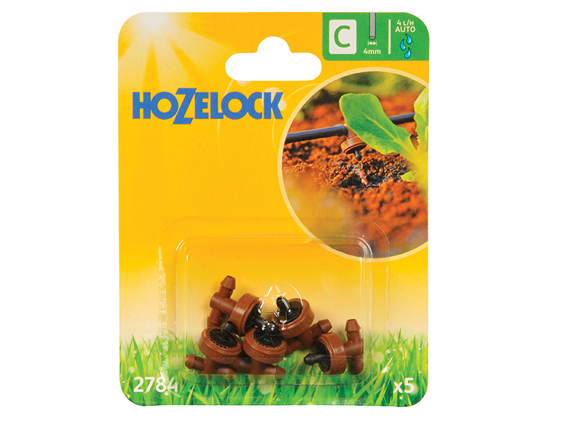 Thumbnail image of Hozelock In Line Pressure Dripper 4mm (5 Pack)