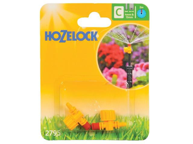 Thumbnail image of Hozelock Adjustable Micro Jet 360 Degree 4mm/13mm (3 Pack)