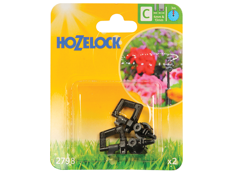 Thumbnail image of Hozelock Mini Sprinkler 4mm/13mm (2 Pack)