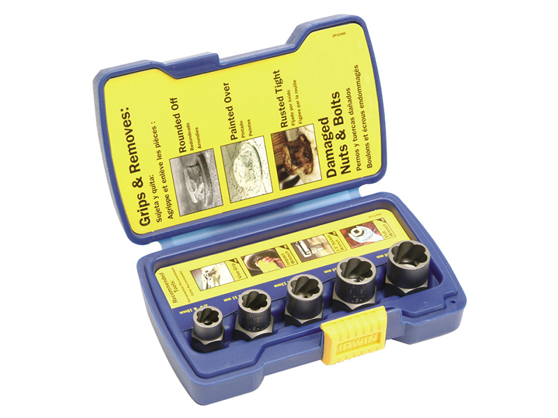 Thumbnail image of IRWIN Bolt Grip Fastener Remover Base Set, 5 Piece