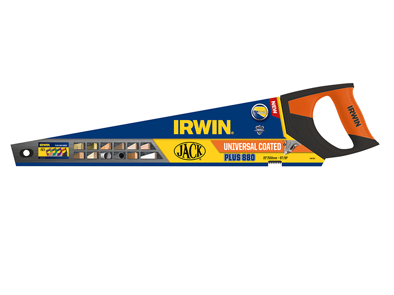 Thumbnail image of Irwin 880 UN Universal Hand Saw 550mm (22in) Coated 8 TPI