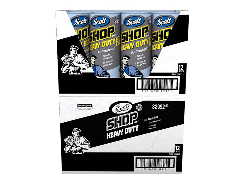 Thumbnail image of Kimberley Clarke SCOTT® Blue Heavy-Duty Shop Cloth Roll