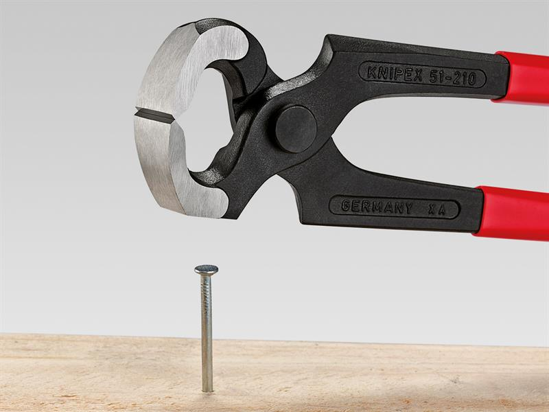 Thumbnail image of Knipex Hammerhead Style Carpenter's Pincers PVC Grip 210mm (8.1/4in)