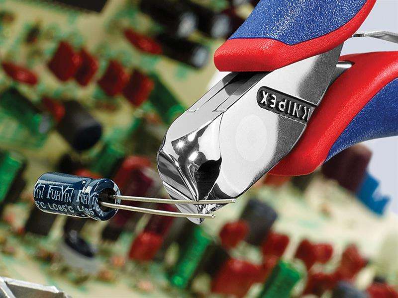Thumbnail image of Knipex Electronics Diagonal End Cutting Nippers Short Head 115mm