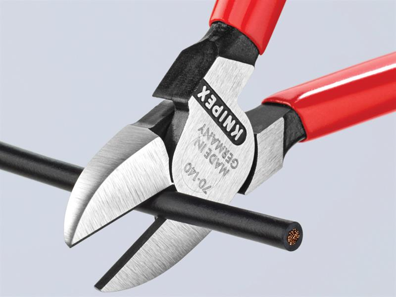 Thumbnail image of Knipex Diagonal Cutters PVC Grip 140mm (5.1/2in)