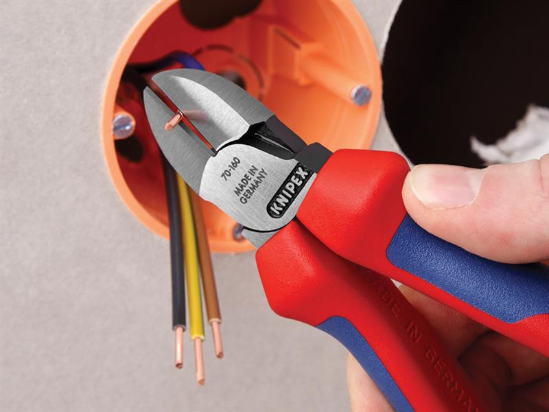 Thumbnail image of Knipex Diagonal Cutters Comfort Multi-Component Grip 180mm (7in)