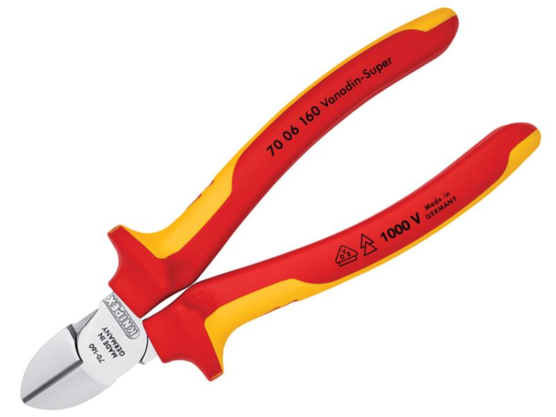 Thumbnail image of Knipex VDE Diagonal Cutter 160mm