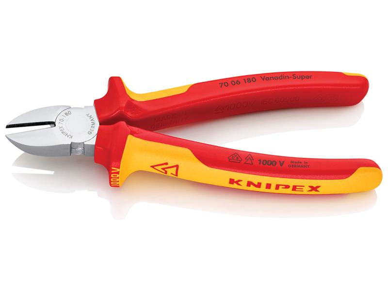 Thumbnail image of Knipex VDE Diagonal Cutter 180mm