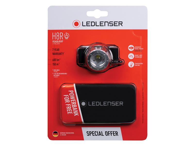 Thumbnail image of Ledlenser H8R Rechargeable LED Headlamp + Free Powerbank