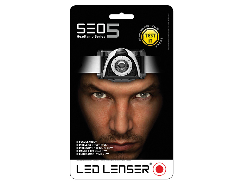 Thumbnail image of Ledlenser SEO5 LED Headlamp - Black (Test-It Pack)
