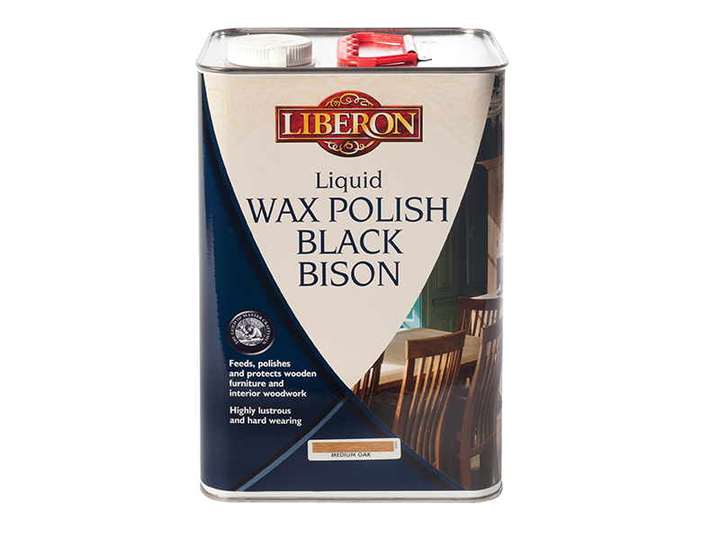 Thumbnail image of Liberon Liquid Wax Polish Black Bison Neutral 5 litre