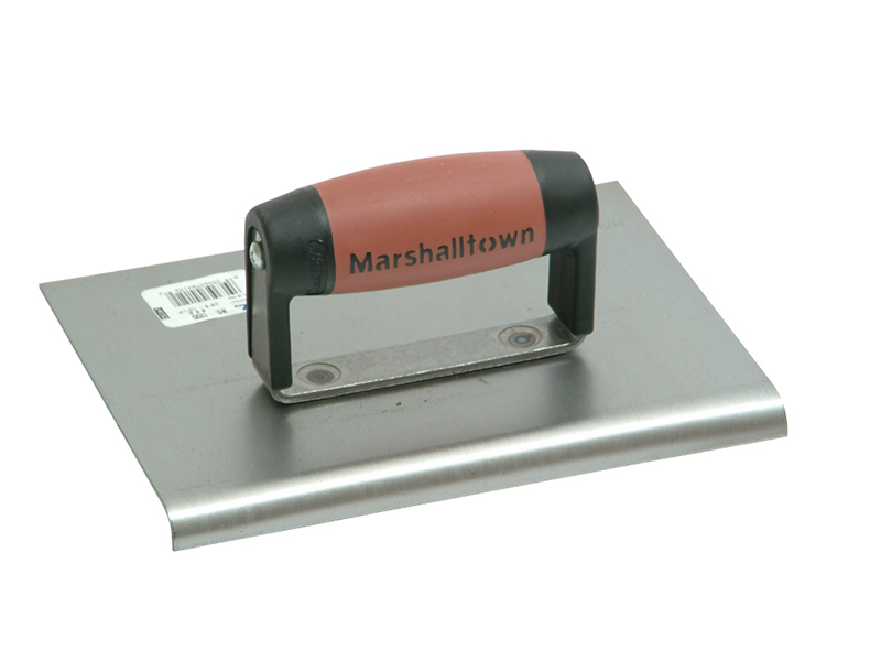 Thumbnail image of Marshalltown M120D Cement Edger Straight End Durasoft Handle 8 x 6in